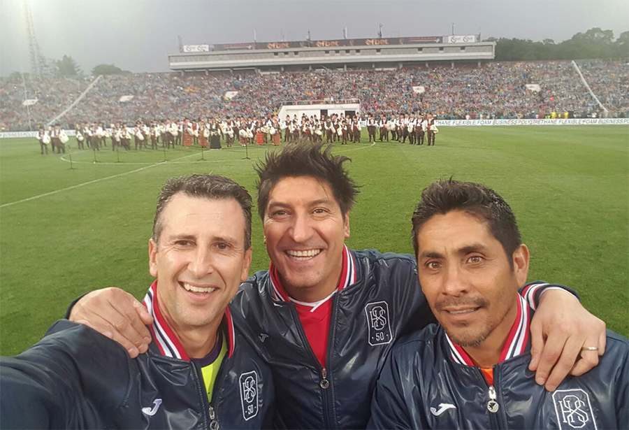 Felix, Ivan Zamorano and Jorge Campos