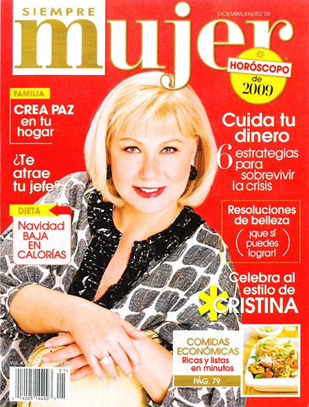 Siempre Mujer, Cristina Saralegui, 2009