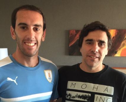 Diego Godin and Carlos