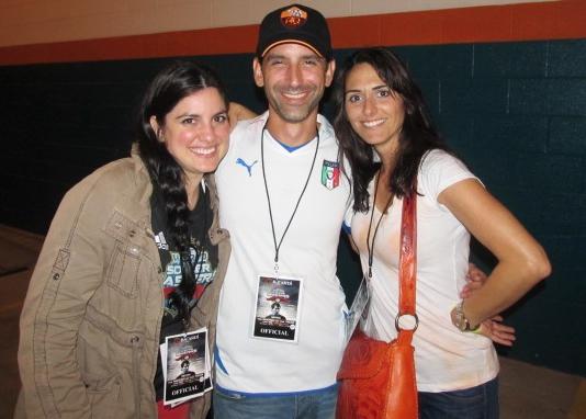Justine, Fabio Ianelli, and Daniella