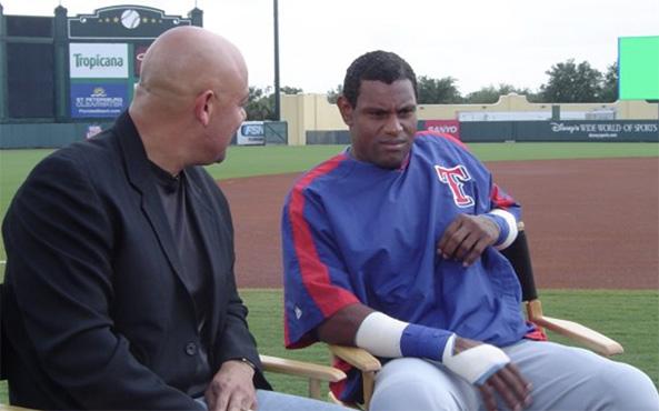 Edgar and Chicago Cubs legend Sammy Sosa