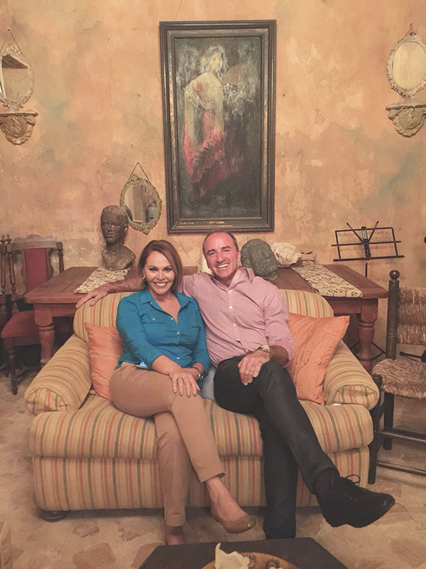 Maria Elena Salinas and Dario