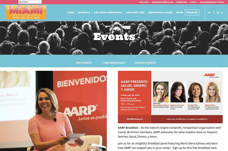 AARP NAHJ Panel, Maria Elena Salinas