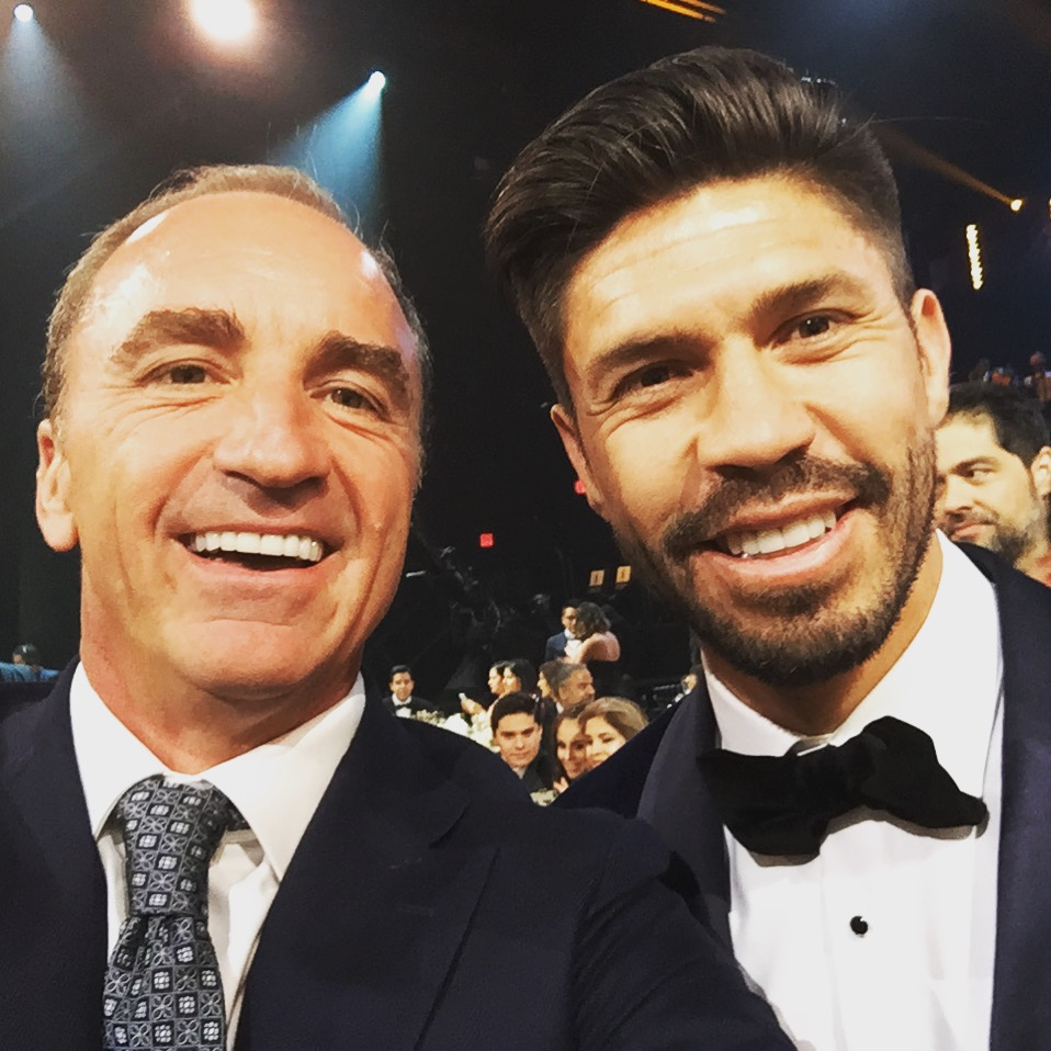 Dario Brignole & Oribe Peralta en los premios Univision en Miami