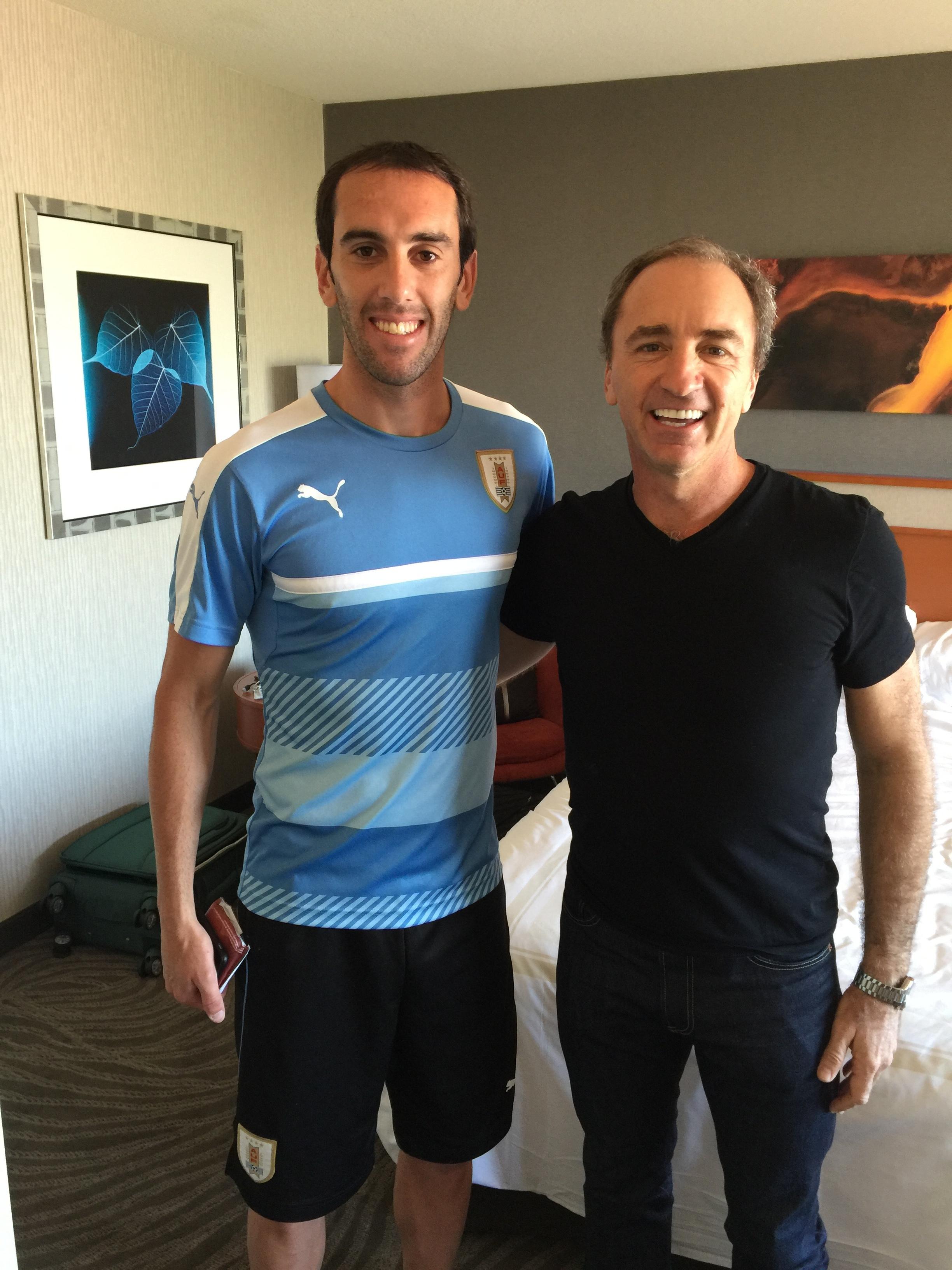 Diego Godin y Dario Brignole