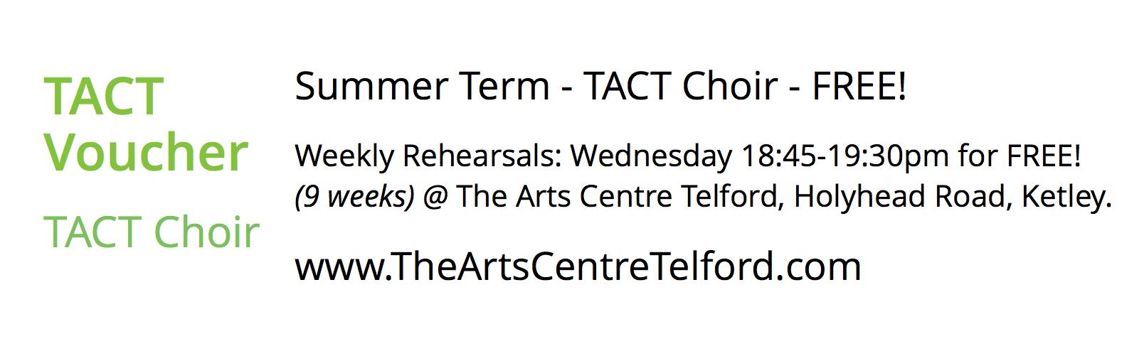 TACT Choir Summer Term