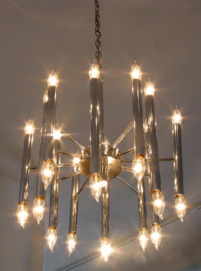 Chrome chandelier: $1200