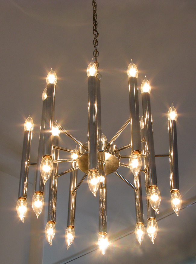 Chrome chandelier