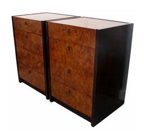 burl wood chests