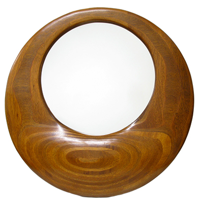 Hand scuplted deco mirror: Sold