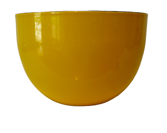 Yellow enamel bowl: $38
