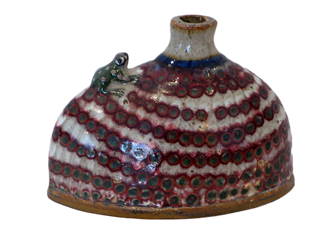 Vase with frog: $36