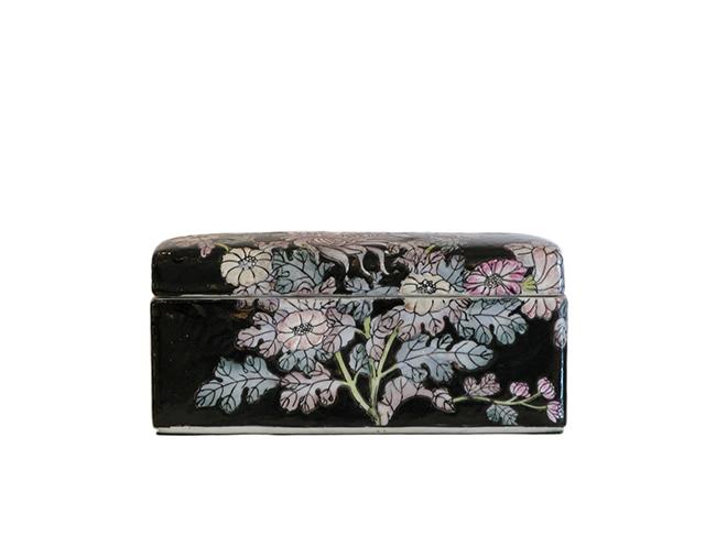 Chinese ceramic lidded box: $40