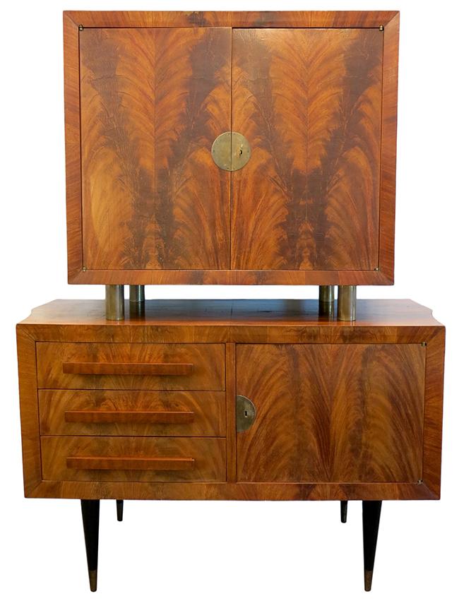Flamed mahogany and brass dry bar.jpg