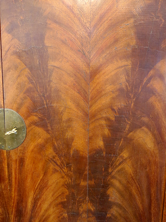 Flamed mahogany detail - vintage furniture Atlanta.jpg