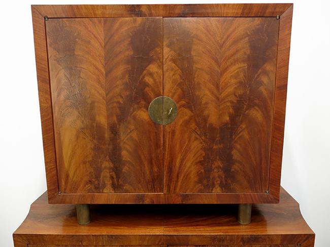 Flamed mahogany bar cabinet top.jpg