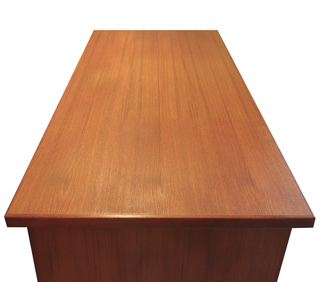 Danish desk in teak with bookcase on back.jpg
