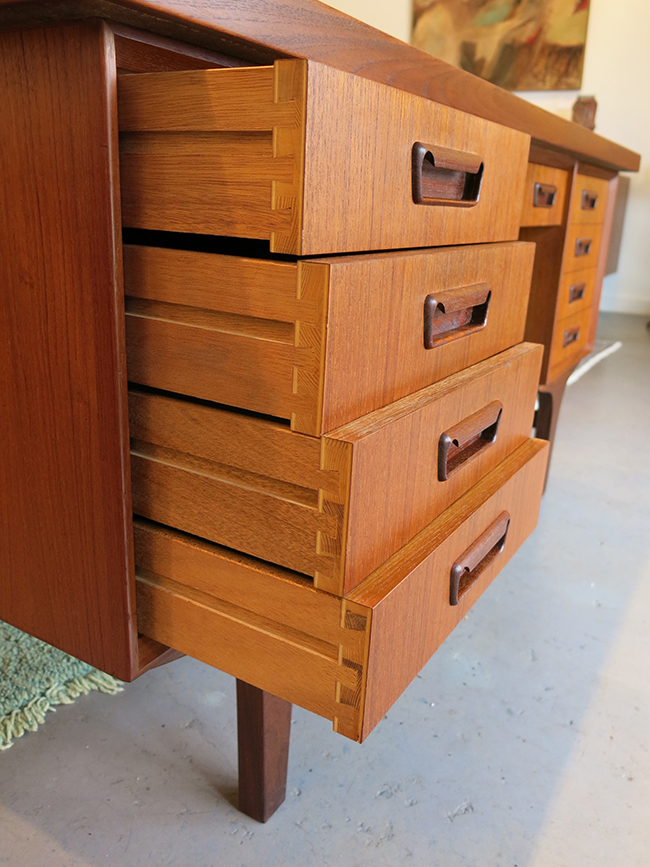 Four sided teak desk drawer detail.jpg