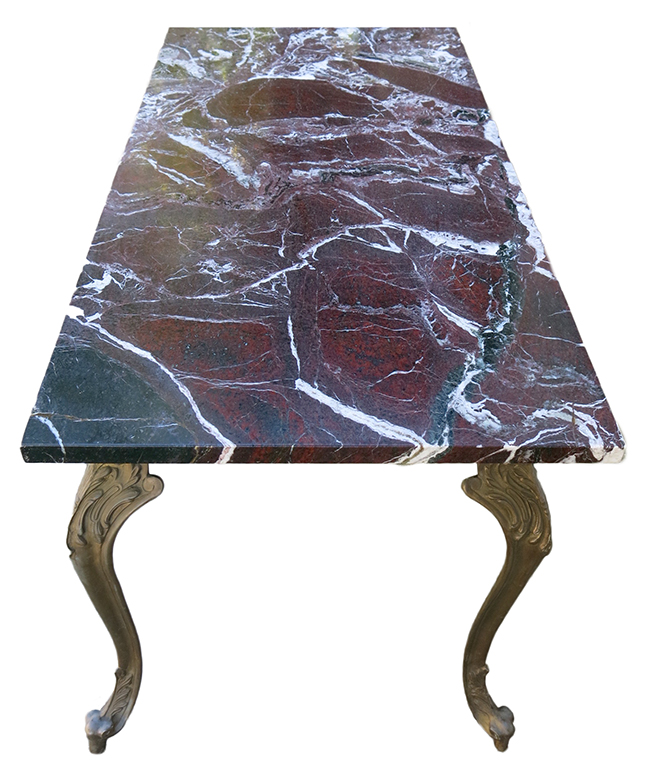 Bronze base marble top cocktail table - mid century modern furniture.jpg