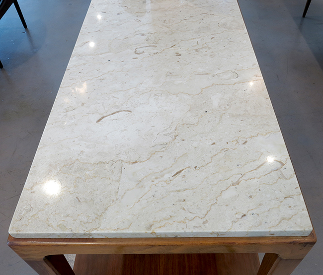 Extra long console with Italian marble top - Vintage furniture Atlanta.jpg