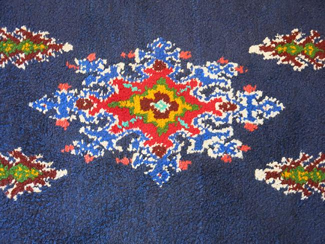 Moroccan rug blue - mid century Atlanta.jpg
