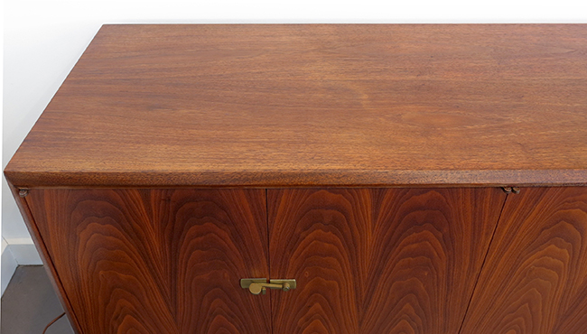Walnut credenza with booked matched doors.jpg