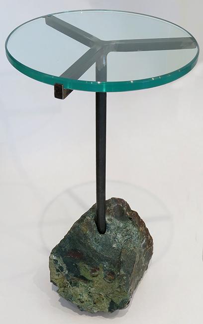 Green rock cocktail table - raw flint.jpg