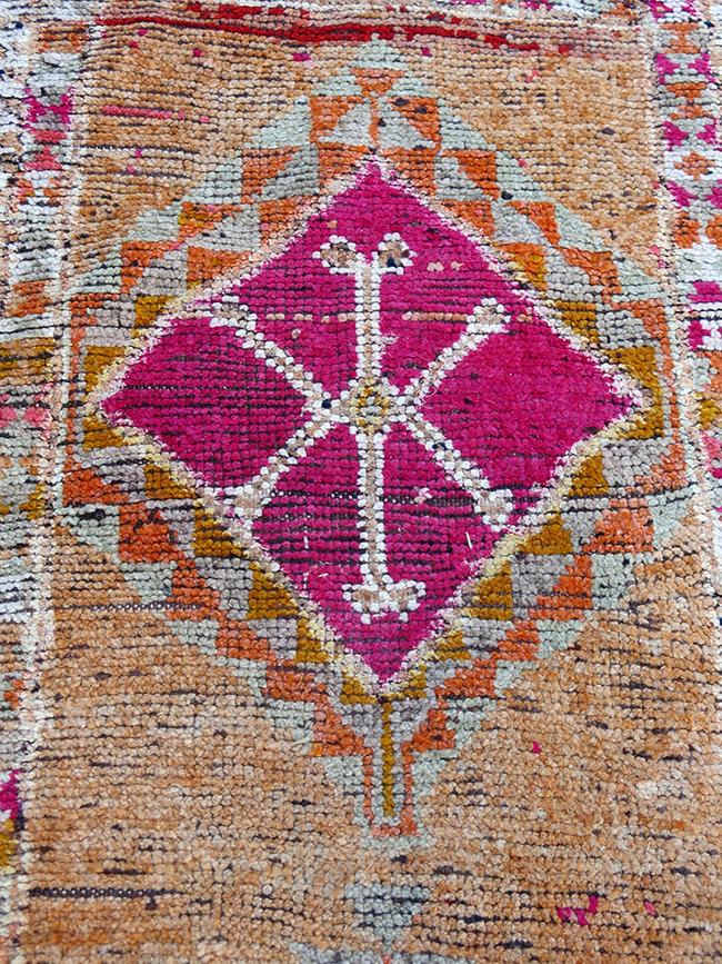 Turkish Anatolian runner pink detail - Antique rugs Atlanta.jpg