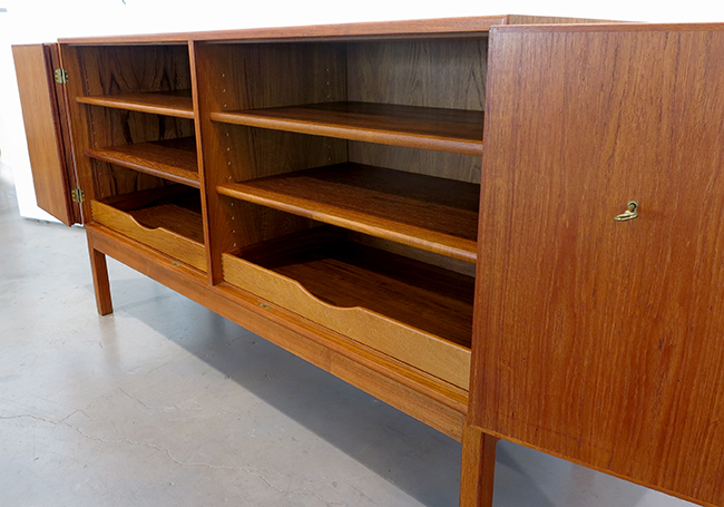 Teak credenza with pull out trays.jpg