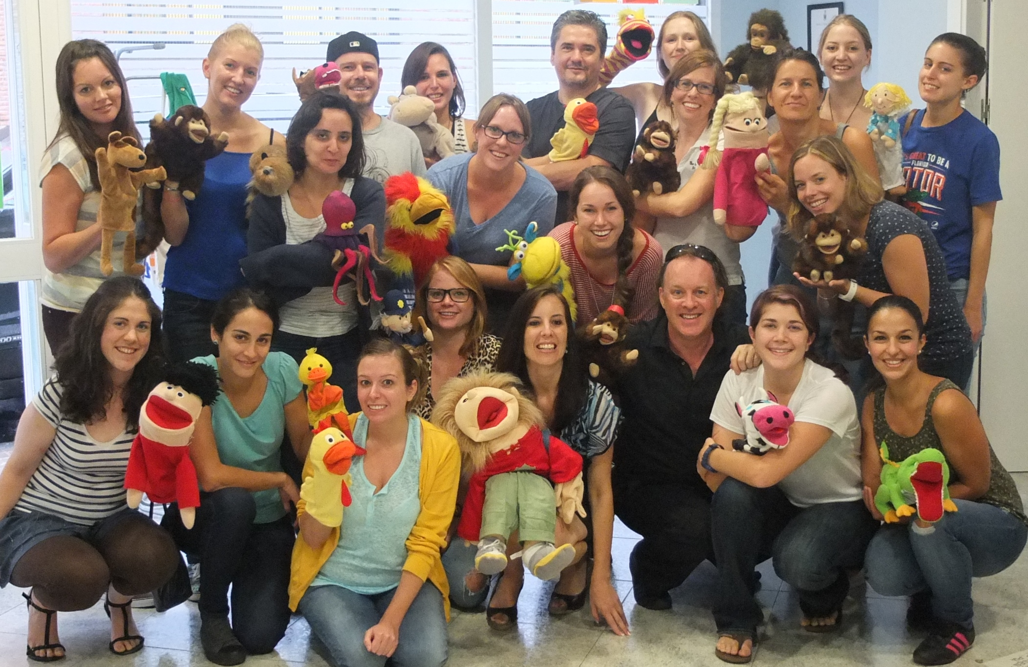 Workshop on using puppets in English language teaching with teachers from The English Business, Sevilla.