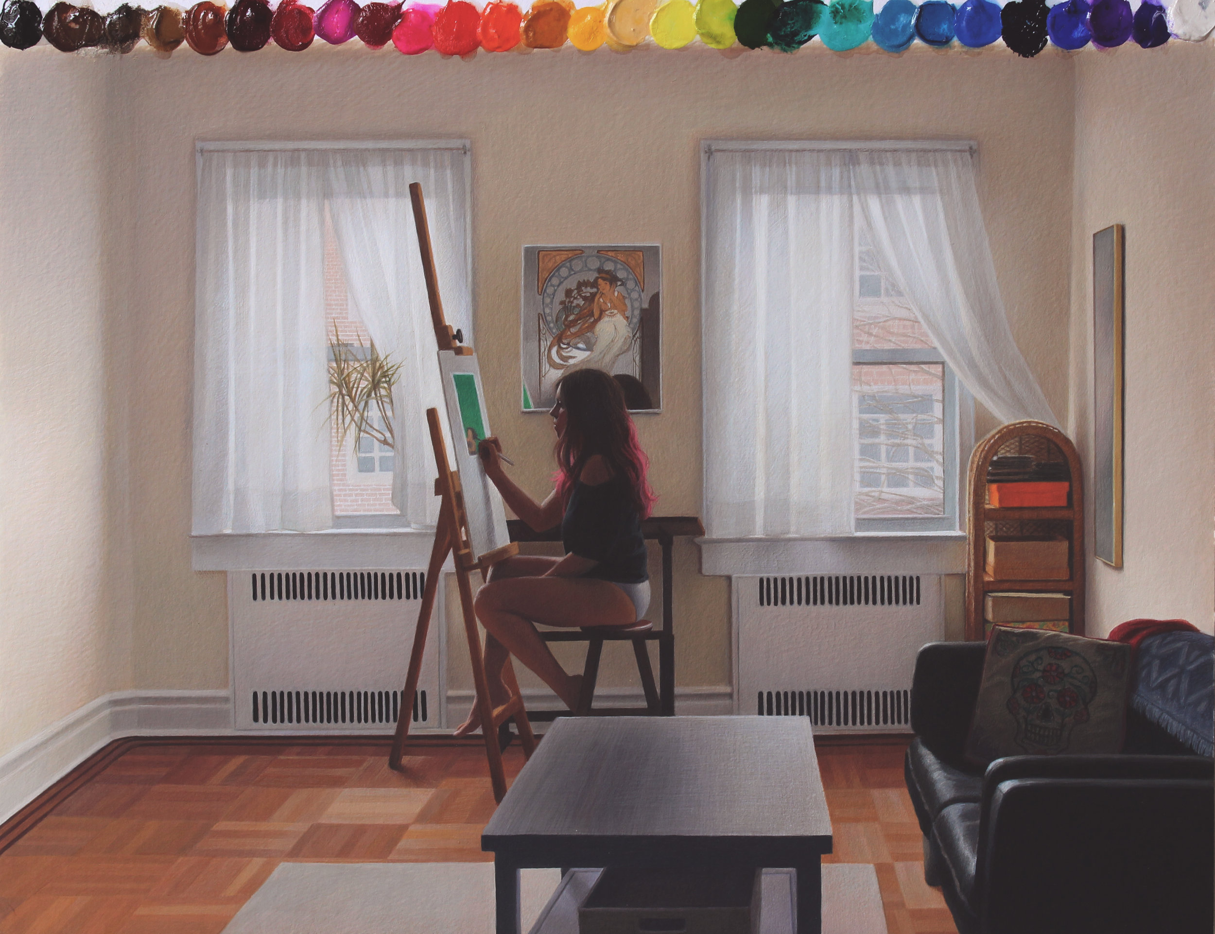 Self Portrait in Forest Hills Studio