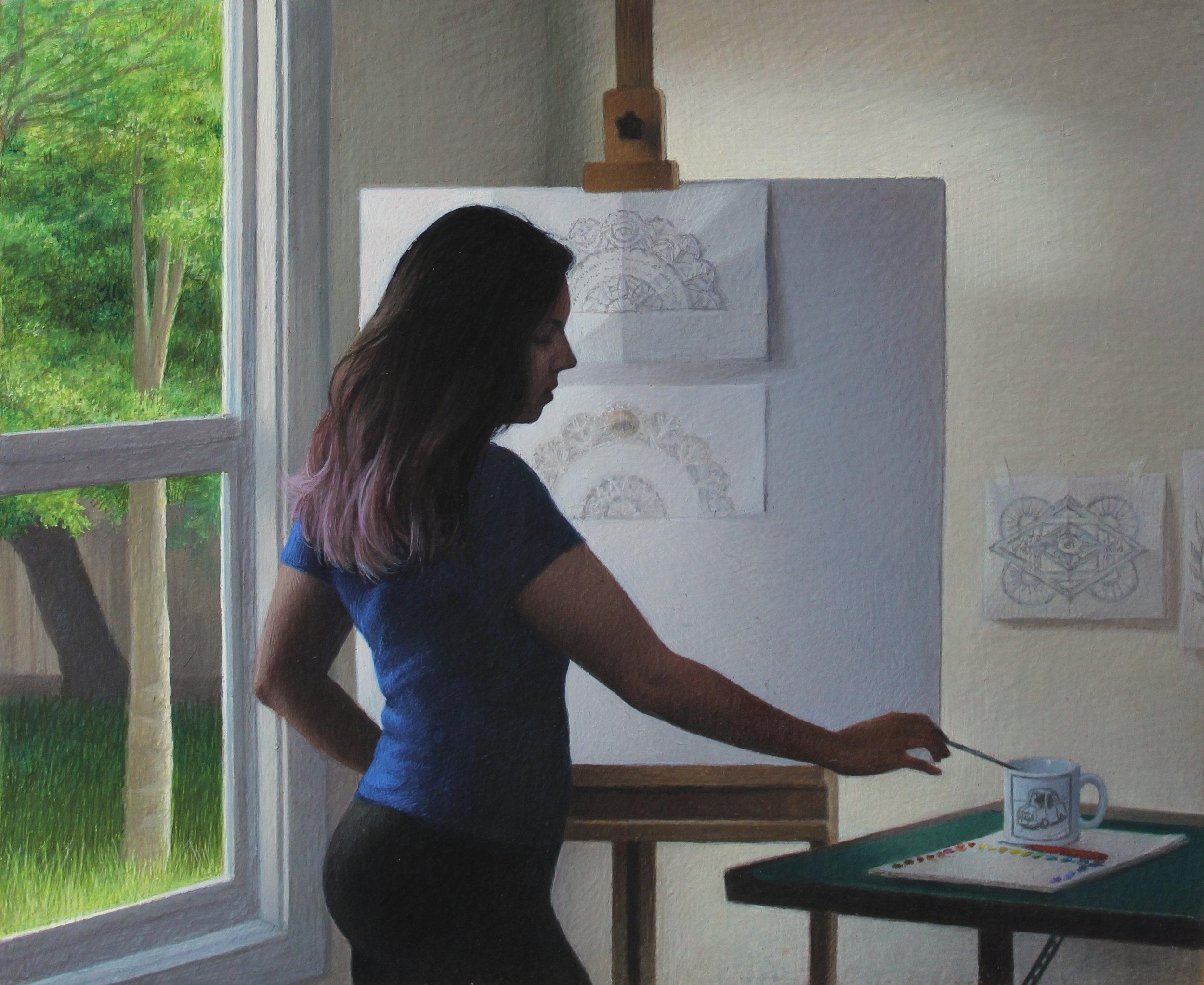 Self Portrait in Petaluma Studio (detail)