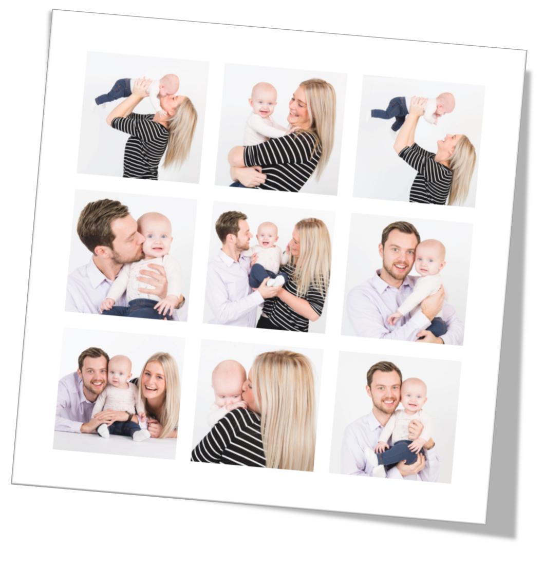 collage fotograf familie