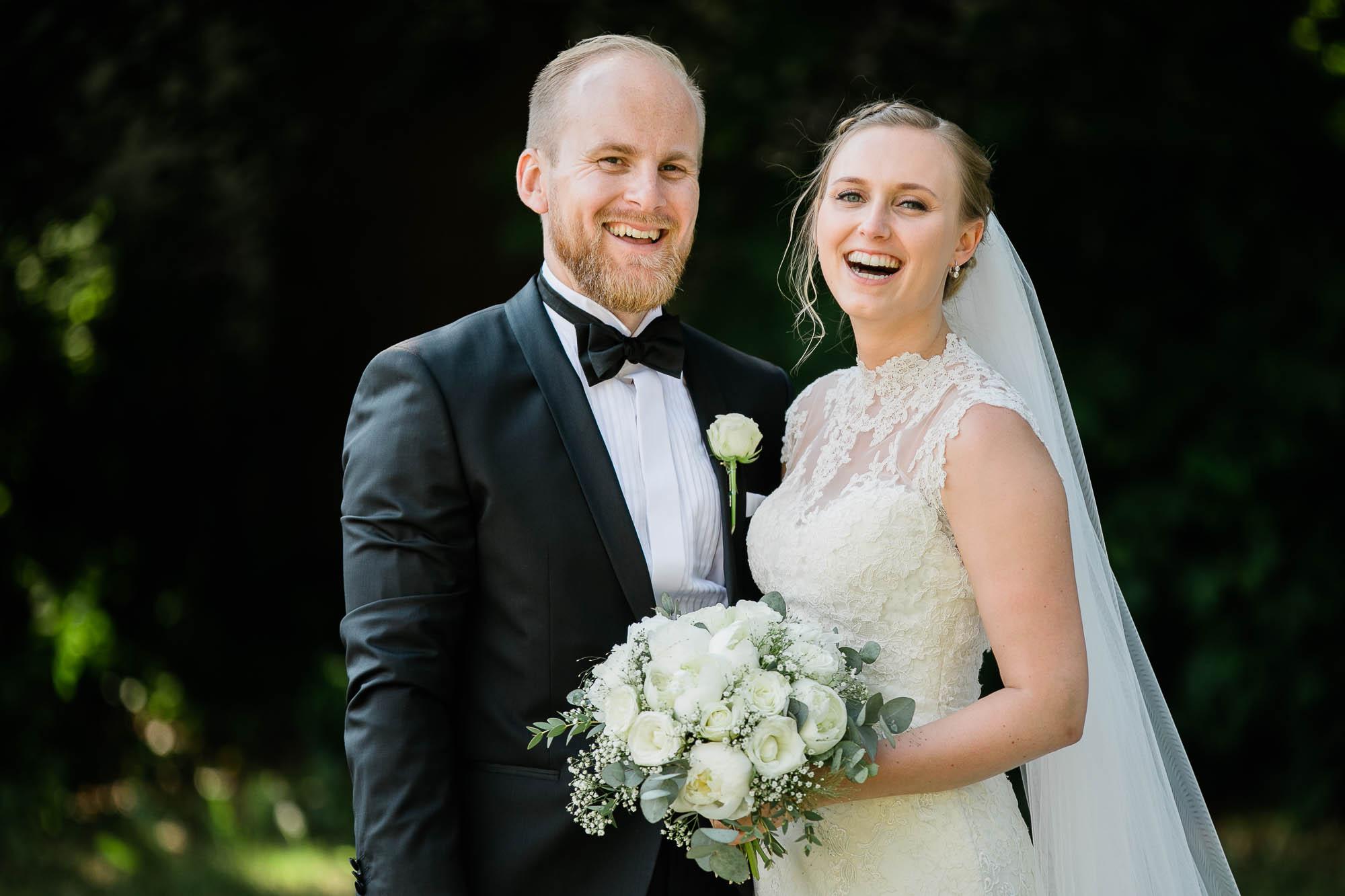 Kokkedal Slotshotel brudepar