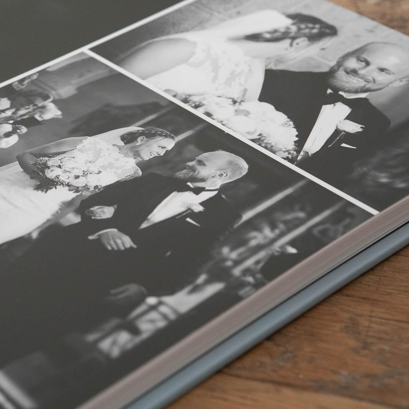 Hjælper jer med jeres bryllupsalbum - Jeg hjælper med at få designet verdens flotteste album fra jeres bryllup. Et album er jeres sikkerhed for, at I også om 20 år kan vise jeres bryllupsbilleder til børn og familie. Digitale filer kan forgå, det kan jeres album ikke. Det er jeres garanti for minder altid.