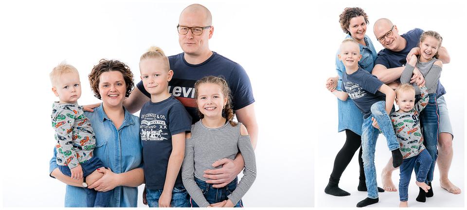 familieportræt med grin