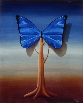 """Pintura de Rogério Teruz."""" Síntese da Floresta da Tijuca"""",  1990. 81 cm x 65 cm. Óleo Sobre Tela"""