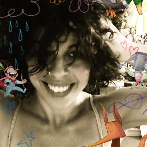 """Alicia Borges, ilustradora de """"Los náufragos de Tonga""""."""