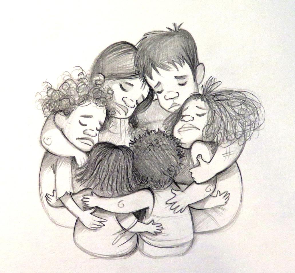 """Boceto para el cuento """"Los náufragos de Tonga"""", por Alicia Borges."""