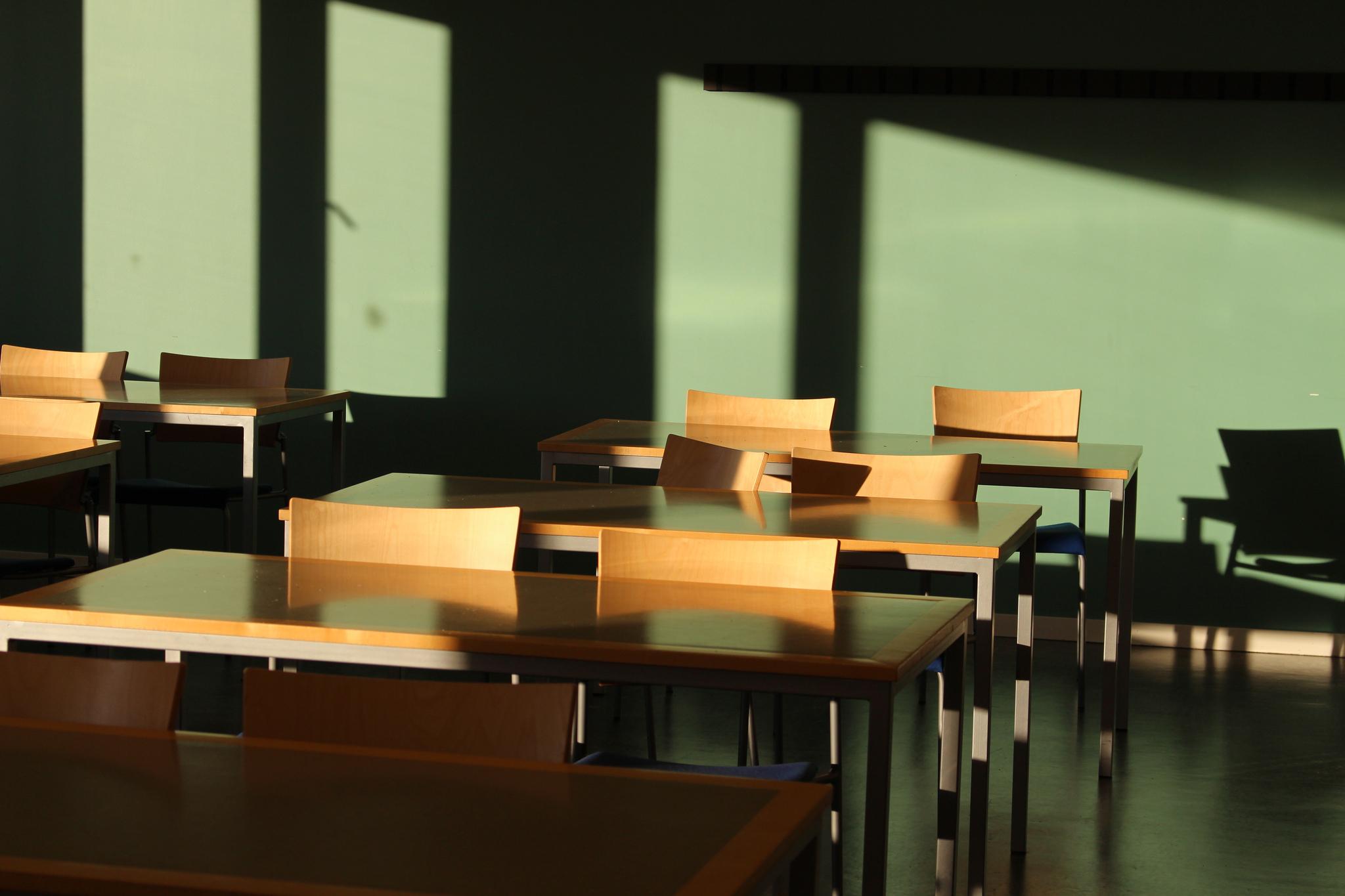Classroom , de Victor Björkund,  CC BY 2.0 .