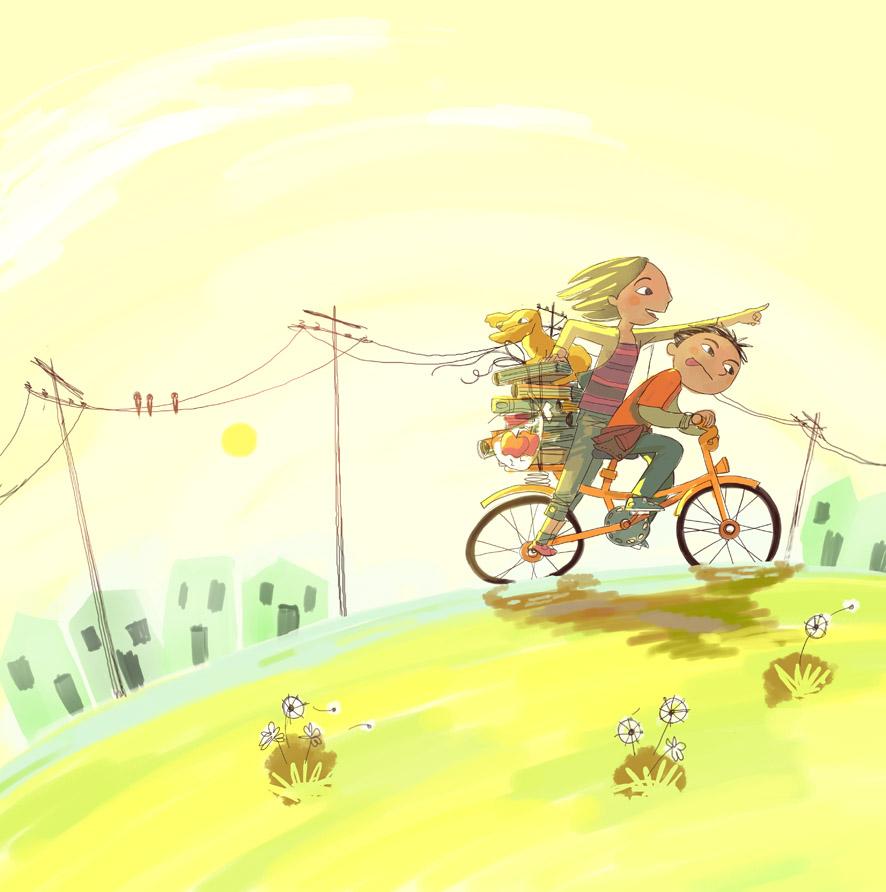""""""" A lovely day """", ilustración de Teresa Martínez,  CC BY-NC 2.0"""