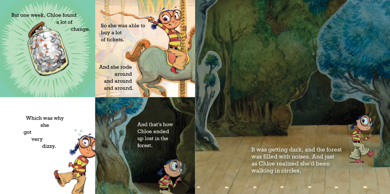 From   Chloe and the Lion  , by Mac Barnett, illustration by  Adam Rex