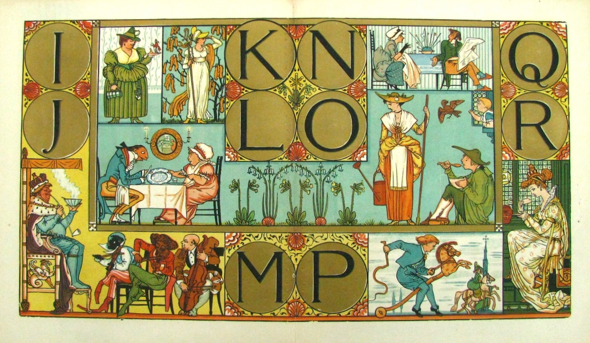 The ALPHABET of Old Friends  , Walter Crane's Toy Books; 1875