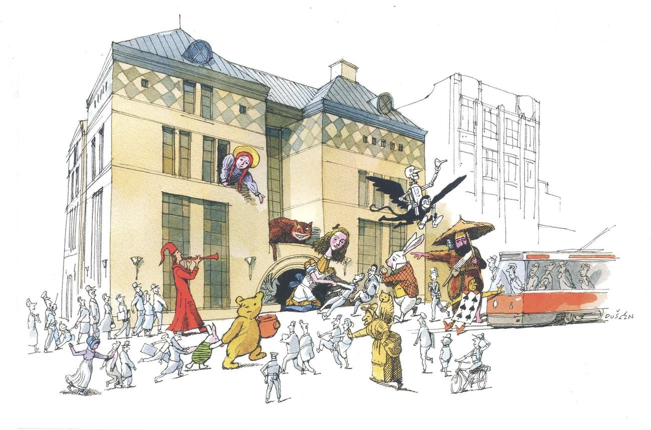 Illustration by  Dušan Petričić  of Toronto Public Library, home of the Osborne Collection of Early Children's Books