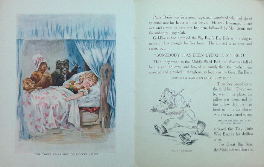Interior pages from  The Three Bears