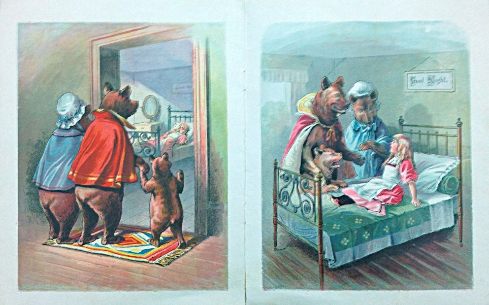 Interior pages from  The Story of the Three Bears