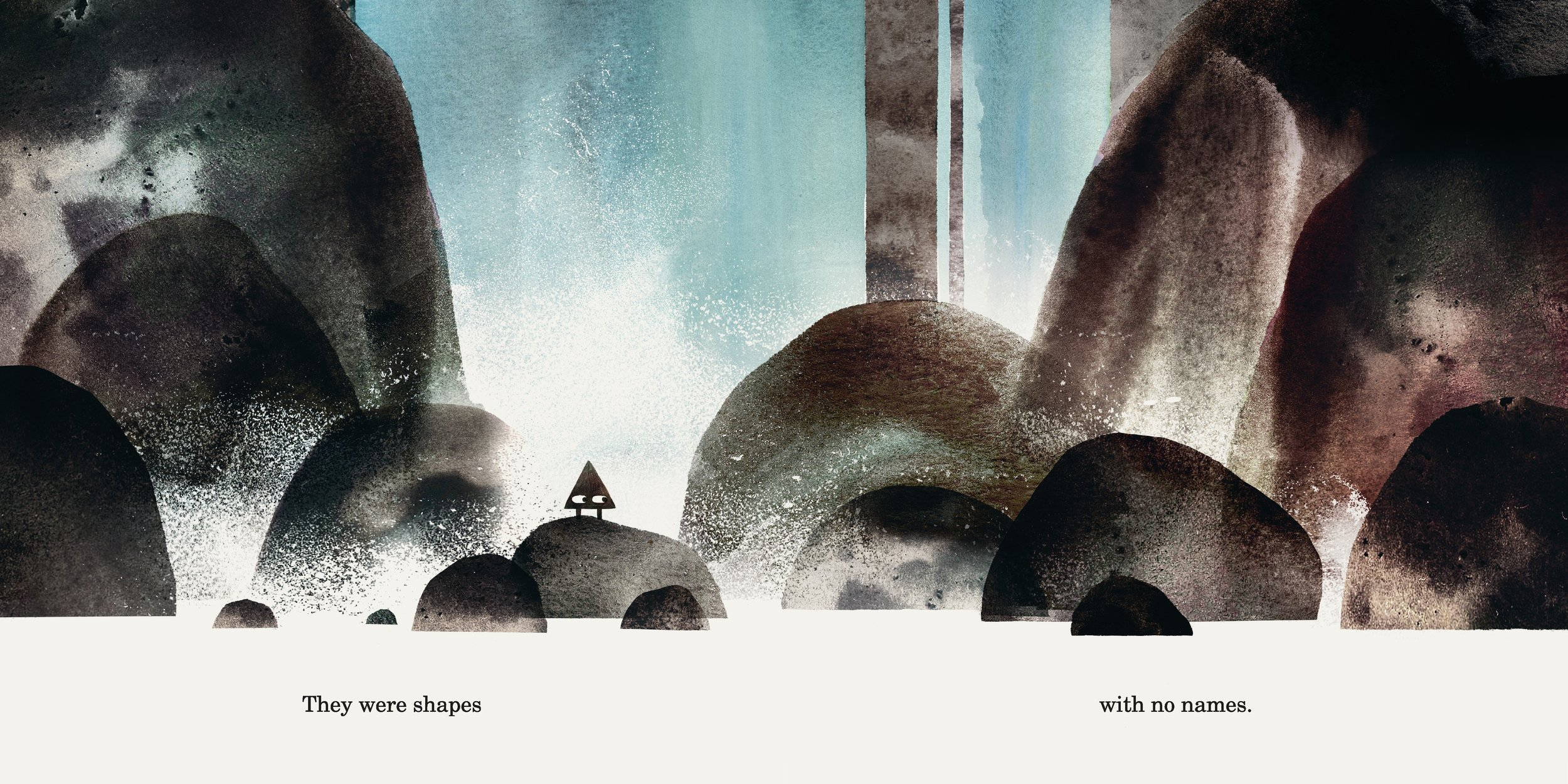 Interior spread from  Triangle,  by Mac Barnett, illustration by Jon Klassen