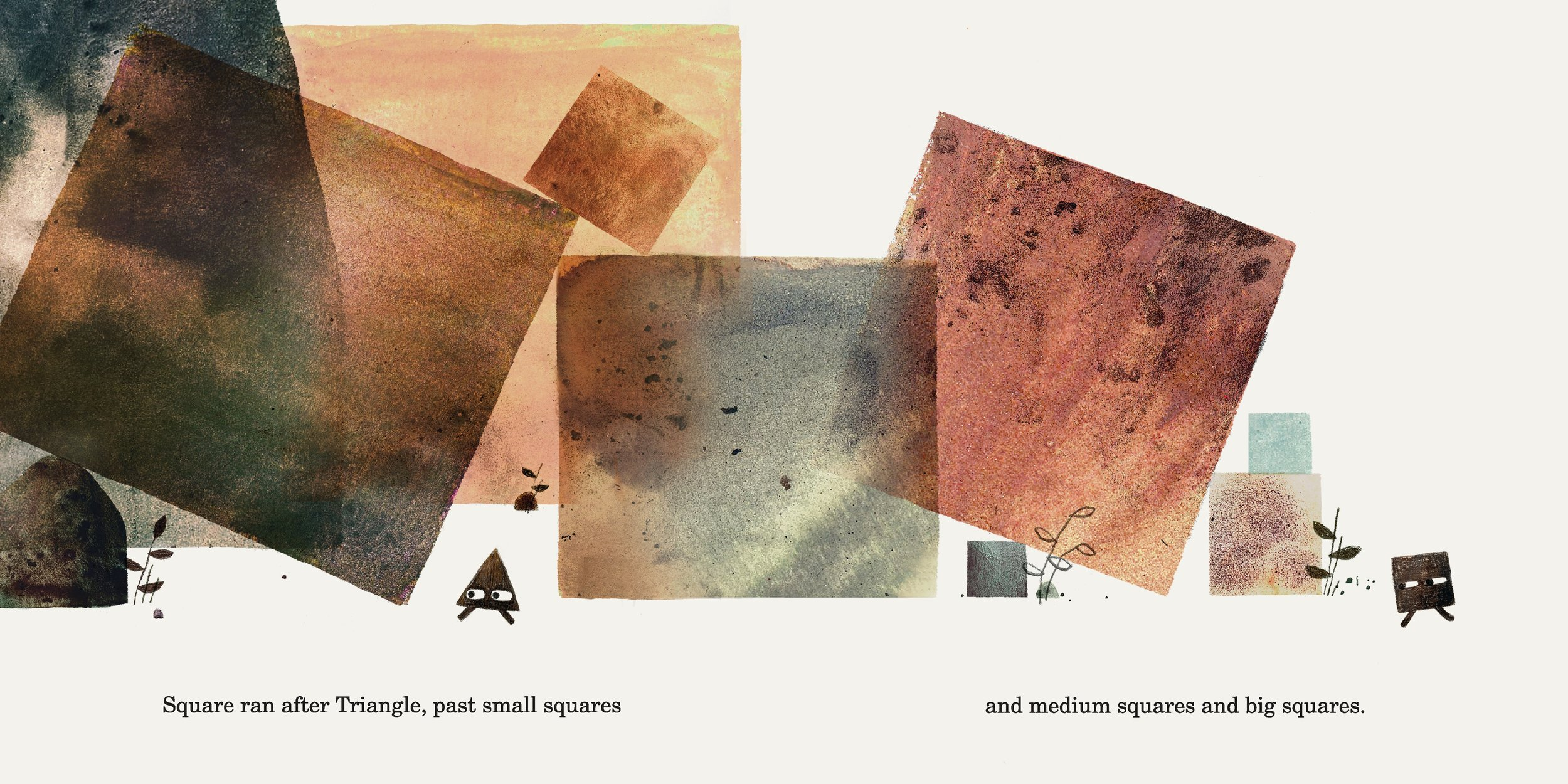 Interior spread from  Triangle , by Mac Barnett, illustration by Jon Klassen