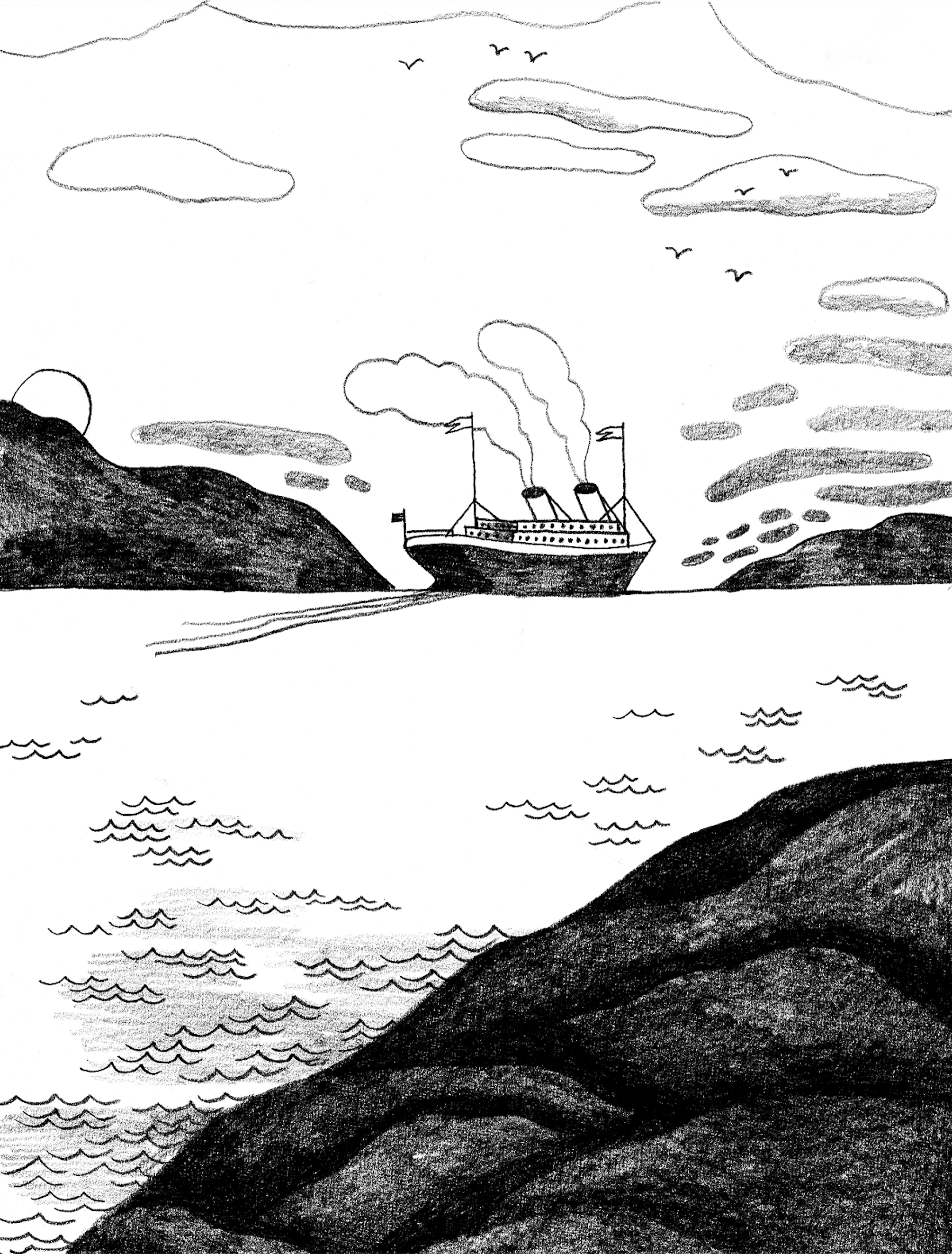 Interior illustration by Carson Ellis from  The Whiz Mob and the Grenadine Kid , by Colin Meloy
