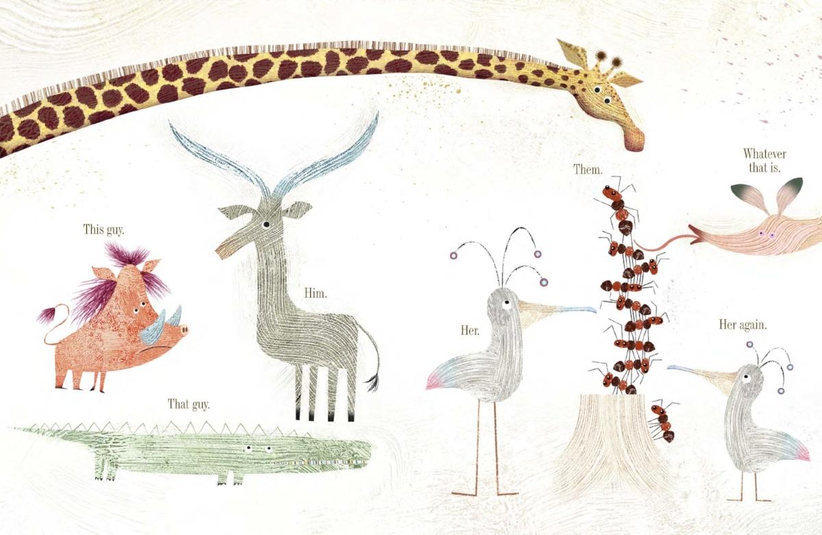 Final art by Lane Smith for   Giraffe Problems,   by Jory John